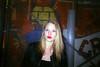 (Nothing is surrender) Tags: girl flash portrait portraiture paris redlips blond nuitsfauve club techno rave underground yashicat3 analog film argentique analogcamera yashica compact