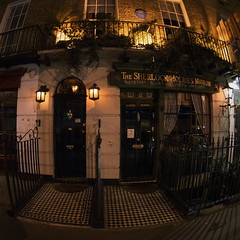 221B Baker Street (empty.and.void) Tags: sherlockholmes thesherlockholmesmuseum bakerstreet221b bakerstreet london greatbritain england unitedkingdom uk gb iconiclandmarks mysecretlondon britishsnaps nightscape afterdark bigcitylights fisheye distorted londonstreets iconiclondon historiclondon iconicbuildings distortion agameoftones nightshot urbanandstreet artofvisuals nothingisordinary architecturephotography wideangle beautifuldestinations citystreets night streetscape
