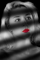Mariah Film Noir (melmark44) Tags: mariah model studio strobist ocf bokeh offcameraflash portrait girl woman beautiful beauty sexy studiostrobes modelshoot photoshoot studioshoot 85mm primelens hairlight backlight rimlight softbox stripbox honeycombgrid pose red background composite blond canoneos5dmarkiv ef85mmf12liiusm redlipstick f110 beautydish workshop studioimaging637 setup canon llens fullframe dslr lighting modifiers seamless massachusetts hair lipstick filmnoir noir noirphotography