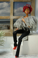fur bolero (photos4dreams) Tags: barbie mattel doll toy diorama photos4dreams p4d photos4dreamz barbies girl play fashion fashionistas outfit kleider mode puppenstube tabletopphotography aa beauties beautiful girls women ladies damen weiblich female funky afroamerican afro schnitt hair haare afrolook darkskin africanamerican bobbyjean