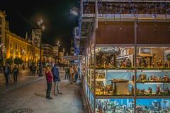 Christmas in Seville (J_M_Photo) Tags: christmas night streetphotography street light navidad sevilla spain city citylife people