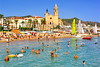 Costa Dorada, Sitges (gerard eder) Tags: world travel reise viajes europa europe españa spain spanien costadorada sitges beach playa strand landscape landschaft paisajes panorama beachlife mediterraneo mediterranean mittelmeer mediterraneansea church kirche iglesia wasser water outdoor