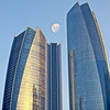 Etihad towers moon (keltia17) Tags: abudhabi etihadtowers moon lune luna uae emirates emiratos emirats gratteciel rascacielos skyscraper blue bleu azul glass verre canoneos80d