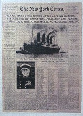 The New York Times, 16.4.1912: Titanic sinks (pefkosmad) Tags: jigsaw puzzle hobby leisure pastime secondhand complete sealed unopened newyorktimes titanic ship liner sinking disaster 1500pieces facsimile newspaper ravensburger