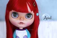 Ariel (Heniferu) Tags: heniferu shisencolors disney ariel blythe blythecustom customblythe pureneemo redhair takara takaratomy mermaid sirenita