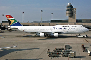 South African Boeing 747-312 ZS-SAC
