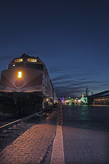 Polar Express Train (Modeflip) Tags: polar express train williams arizona night sky lights bricks tracks