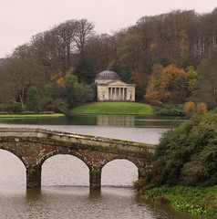 Across the lake (Tim Ravenscroft) Tags: landscape garden stourhead lake bridge pantheon england hasselblad hasselbladx1d x1d