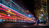 double express lll (pbo31) Tags: bayarea california nikon d810 color night dark black december 2017 holidays christmas season boury pbo31 lights sanfrancisco city urban marketstreet downtown lightstream traffic roadway infinity muni bus stop motionblur double red