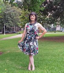 Op-Shop Chic (justplainrachel) Tags: justplainrachel rachel cd tv crossdresser transvestite trans floral pretty cute dress pose selfportrait selfie