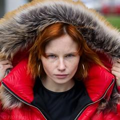Hooded freckles (piotr_szymanek) Tags: natalia portrait outdoor woman redhead hood jacket flyhigh park freckles fur piercing nosepiercing earrings blueeyes fashion face eyesoncamera young 5k 10k 50f 20k 30k 1k 20f