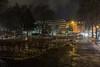 Bright Night (lars_uhlig) Tags: 2017 saarbrücken deutschland germany saarland altsaarbrücken nacht night schnee snow stengelanlage baustelle construction lichter lights menschen people wolken wolkig winter