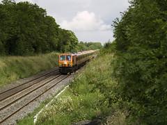203 on 1325 Heuston-Limerick south of Straffan 01-Jul-07 (metrovick) Tags: irishrail iarnrodeireann straffan emd emdexportloco jt42hcw ie203 203 railroad railwaykildare railway mk3 brelmk3