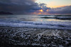 Sundown at Dinas (Tina Townhill) Tags: dinasdinlle dinlle beach shore waves tide wales sunset sundown gwynedd pebbles