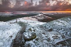 The Cold Ridge (marc_leach) Tags: highpeak peakdistrict darkpeak dawn sunrise mamtor thegreatridge landscape canon wideangle winter snow ice hopevalley edale