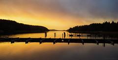Silent strait (Joni Mansikka) Tags: nature winter outdoor sea strait marina woodland trees silhouettes sky clouds landscape kaarina suomi finland atx280afpro