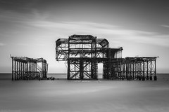 Deconstructed (The Frustrated Photog (Anthony) ADPphotography) Tags: architecture brighton category decay eastsussex england external places seascape travel westpier longexposure landscapephotography travelphotography pier ruin derelict buildings structure sea englishchannel water sky cloud canon1585mm canon70d canon outdoor