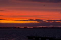 Bright sky over Denmark (frankmh) Tags: sky bright sunset evening hittarp sweden öresund denmark outdoor