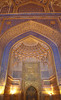 The Beauty Of The Kari Madrasa Mosque (peterkelly) Tags: uzbekistan samarkand registan tillakarimadrasamosque samarqand mosque arch archway door gold blue ornate light