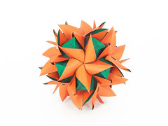 Happy New Year! (masha_losk) Tags: kusudama кусудама origamiwork origamiart foliage origami paper paperfolding modularorigami unitorigami модульноеоригами оригами бумага folded symmetry design handmade art