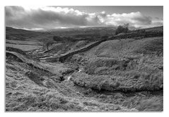 Wensleydale and no Cheese. (johnhjic) Tags: snow grass water weather johnhjic wall stone winding river stream brook dales yorkshire fence tree trees cloud clouds lines line leading dark moors moor lonely nikon d850 pce 24mm