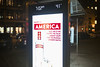 Advertising and Political Satire (wwward0) Tags: advertisement busshelter busstop cc clock display evening manhattan night nyc outdoor temperature time tribeca wwward0