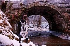 Heli (AV art) Tags: winter photoshoot young woman girl alternative model outdoot ambient natural light red coat jacket hood snow snowy evening old bridge december haihunkoski akaa viiala finland river talvi talvinen lumi luminen maisema kuvaukset vallitseva luonnon valo luonto metsä vanha silta kivisilta joki koski kaarisilta punainen nuttu takki huppu nuori nainen tyttö malli alttimalli valkoinen asu costume ulkoilma ulkona joulukuu joulukuussa forest woods