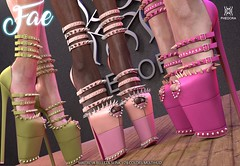 "Phedora. for Kinky Event December - Round- ""Fae"" spiked peet toe heels! ♥ (Celena Galli ~ phedora.) Tags: secondlife second life sl phedora sexy sassy classy cute kinky shoes heels pumps peep toe mesh 3d fashion event style originalcontent maitreya lara slink physique hourglass belleza venus freya isis shopping addict"