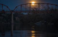 Super! (Lisa Ouellette) Tags: americanriver moon fairoaksbridge luna lunar