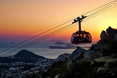 Seeing the Sunset over Dubrovnik Croatia (ClicKingMann) Tags: prime nikon ifttt instagram seeing sunset over dubrovnik croatia sun sea clickingmann view mountain photography lightroom cablecar