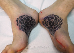 Blackwork Tattoos (tattoosthisway) Tags: foottattoo geometric mandala tattoo toronto aliek blackwork etchy woodblock scrimshaw tattoosthisway best