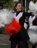 Good Cheer To All (swong95765) Tags: female lady woman uniform cheer cheerleader parade pompom happy smile