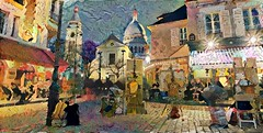 Montmartre según Toulouse-Lautrec (cirooduber) Tags: ostagram awardtree trollieexcellence digitalarttaiwan deepdream paris montmartre toulouselautrec visualart