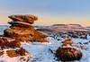 Over Owler Tor (quiltershaun) Tags: edge derbyshire yorkshire higgertor tor rocks geology snow winter earlymorning sunrise nikon 16mm sidelight december early dawn goldenhour peakdistrict peak district countryside nationalpark landscape