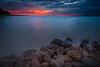 sunset @anyer (Maskun Ramli) Tags: landscape landscapelovers landscapephotography sunrise sunriselovers sunrisephotography waterscape waterscapephotography refelction reef coral samsung samsungnx500 samsungnx banten sawarna sawarnabeach indonesia sunset sea sky water bay