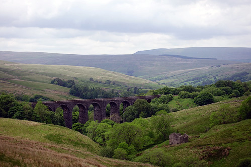 Railway viaduct at head of Dentdale