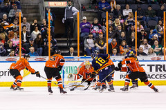 "Kansas City Mavericks vs. Colorado Eagles, December 16, 2017, Silverstein Eye Centers Arena, Independence, Missouri.  Photo: © John Howe / Howe Creative Photography, all rights reserved 2017. • <a style=""font-size:0.8em;"" href=""http://www.flickr.com/photos/134016632@N02/39106610142/"" target=""_blank"">View on Flickr</a>"