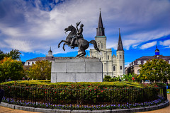 "Saint Louis Cathedral and Jackson Square - New Orleans LA (mbell1975) Tags: neworleans louisiana unitedstates us saint louis cathedral jackson square new orleans la nola ""la nouvelleorléans"" nouvelleorléans nueva nuova frenchquarter french quarter district statue sculpture equestrian andrew church kirche iglesia eglise chiesa kerk kirke igreja chapel kapelle kirken kyrkan kathedrale kathedralkirche abbey dom catedral cathédrale dumo kathedraal katedra domkirke parc park jarden cathédralesaintlouis roidefrancecatedraldesanluis"