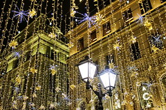 Christmas lights from Moscow (Aram Bagdasaryan) Tags: lights moscow russia street streetlamp architecture
