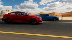 Mercedes-Benz & BMW (nikitin92) Tags: game screenshots vidoegame forzamotorsport7 car racing road mercedesbenz c63 amg coupé blackseries bmw m4 coupe germany pc 4k