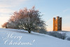 Merry Christmas and Happy New Year! (LongLensPhotography.co.uk - Daugirdas Tomas Racys) Tags: broadway cotswolds england winter sunrise morning frost cold christmas landscape tower broadwaytower hills countryside english postcard