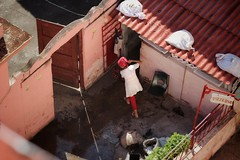 Pizzeria (leewoods106) Tags: cuba gibara pizzeria red cleaner cleaning canonef100mmf28macrousm