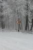 Vingt sous la neige (ZUHMHA) Tags: bulgarie bulgaria winter hiver buzludja panneau sign nuber nombre chiffre numéro line lignes courbes curve geometry géométrie circle cercle brouillard brume tempête fog arbre tree forêt forest totalphoto