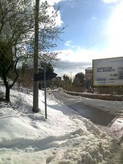 Homes for all budgets (Gilbert-Noël Sfeir Mont-Liban) Tags: kesserwan montliban liban mountlebanon lebanon schnee neige snow winter hiver panneau path chemin rue