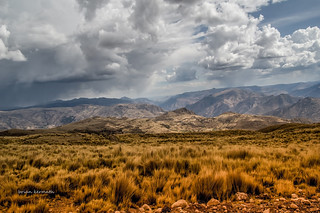 Stormy skies over the high Peruvian Andes