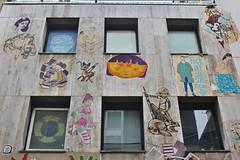 Paddy + Atom Ludik + Vincent Bruno + ..._5793 cité Griset Paris 11 (meuh1246) Tags: streetart paris paddy atomludik vincentbruno citégriset paris11 animaux poisson faon