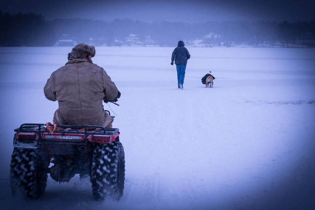 The World's Best Photos of icefishing and snow
