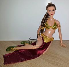 OOAK Slave Leia Doll (Lagoona89) Tags: star wars princess leia organa ooak custom doll disney
