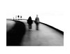 Just around the corner (Tracy Linnel.) Tags: nikon track people impressionism curve lines abstract boardwalk blur outdoors blackandwhite surreal tracylinnel