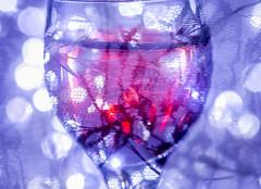 "DSC_7229-1  ~ ""MACRO MONDAYS""  ~ ""DOUBLE EXPOSURE""  ~  ""1/8/18""  ~ (Travlin/Cindy1) Tags: macromondays macro mondays doubleexposure double exposure 1818 brandyglass brandy glass red colored water tiny lights blue lace redcoloredwater bluelace tinylights"